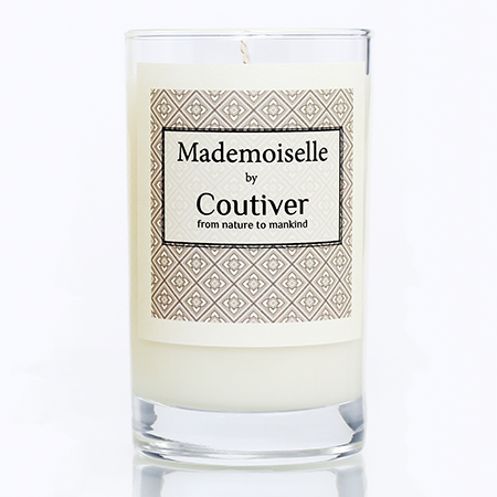 organic candle mademoiselle coutiver single 450x450
