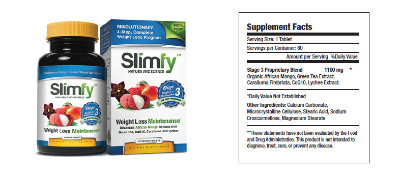 slimfy stage 3 weight loss maintenance front and back